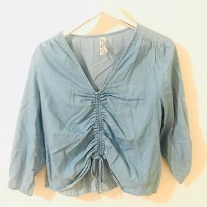 Ruched Tencil Blouse